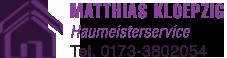 Matthias Kloepzig – Haumeisterservice